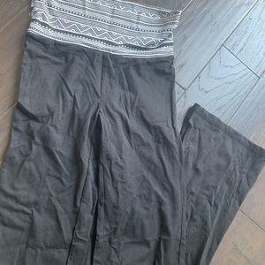 COPY - Black Aztec Waist Yoga Pants